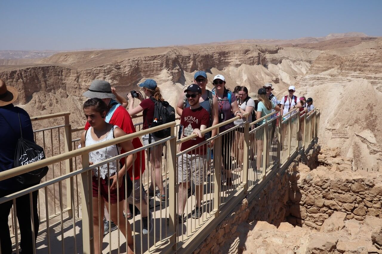 Students participate in Israel experience.