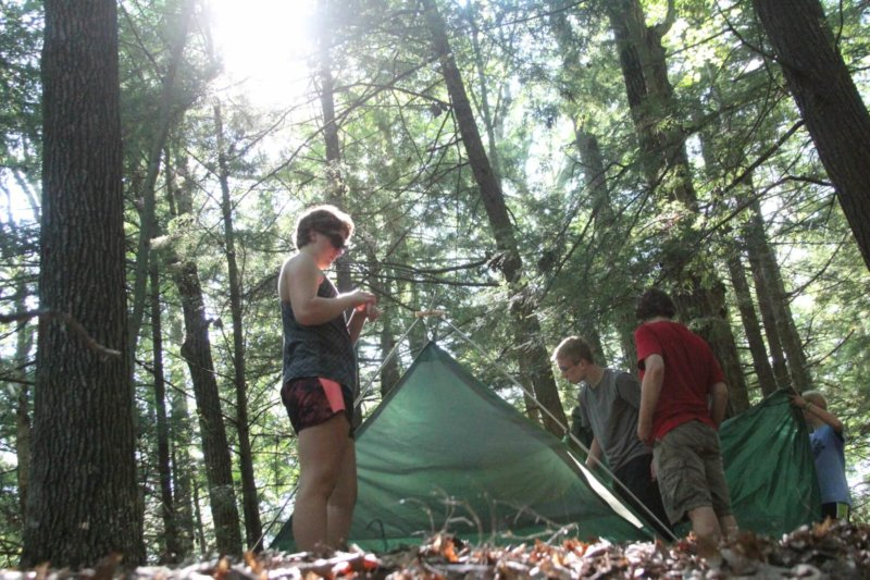camping in Houghton forest