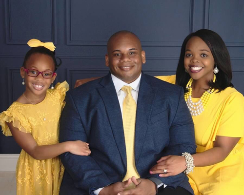 Dr. Wayne Lewis and his family
