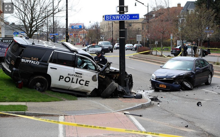 Scene of the car accident