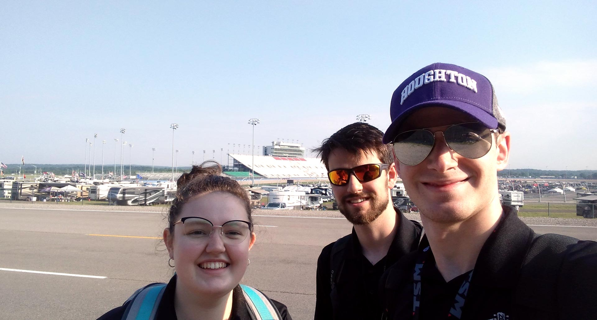 Houghton Data Science Students at Nashville Speedway